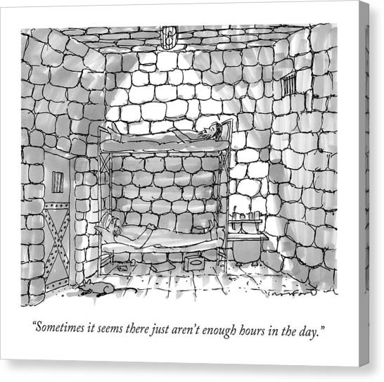 Dungeons Canvas Print - Sometimes It Seems There Just Aren't Enough Hours by Michael Crawford