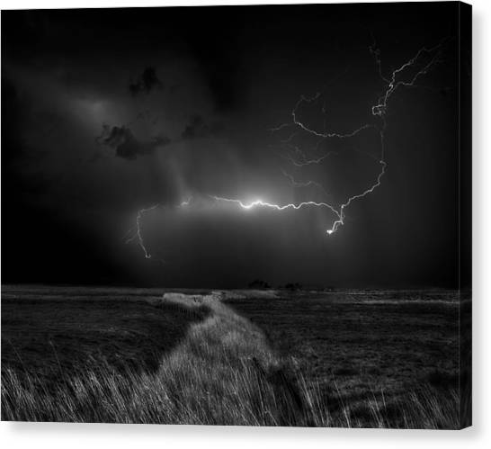 Thunderstorms Canvas Print - Sometimes The Sky Explodes ... by Yvette Depaepe