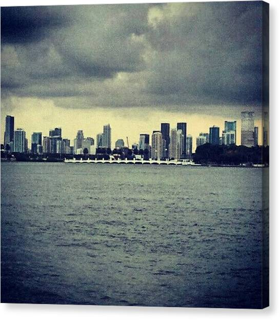 Miami Skyline Canvas Print - Somewhere Along The Bay by Brian Anthony
