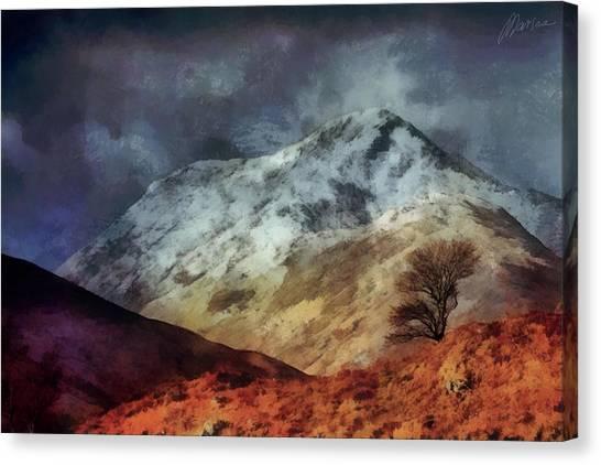 Somewhere In Scotland Canvas Print by Marina Likholat