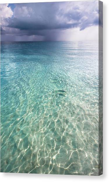 Somewhere Is Rainy. Maldives Canvas Print