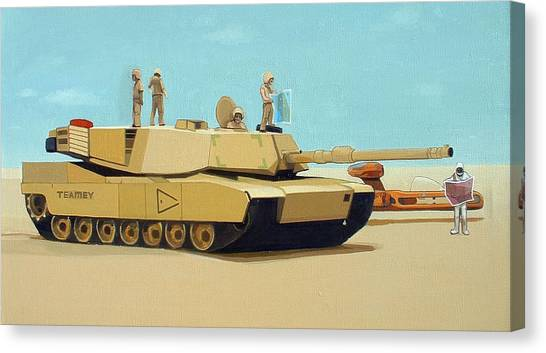Tanks Canvas Print - Somewhere Outside Baghdad by Scott Listfield
