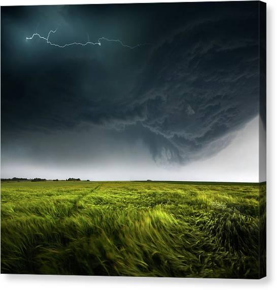 Thunderstorms Canvas Print - Sommergewitter_01 by Franz Schumacher