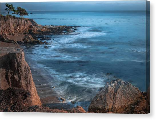 Song At The End Of Day--- Shell Beach Canvas Print