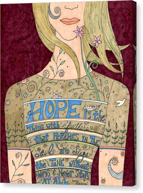 Song Of Hope Canvas Print by Valerie Lorimer