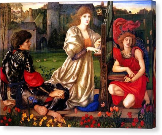 Harpsichords Canvas Print - Song Of Love by Edward Burne Jones