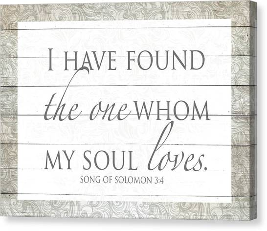 Have Canvas Print - Song Of Solomon by Sd Graphics Studio