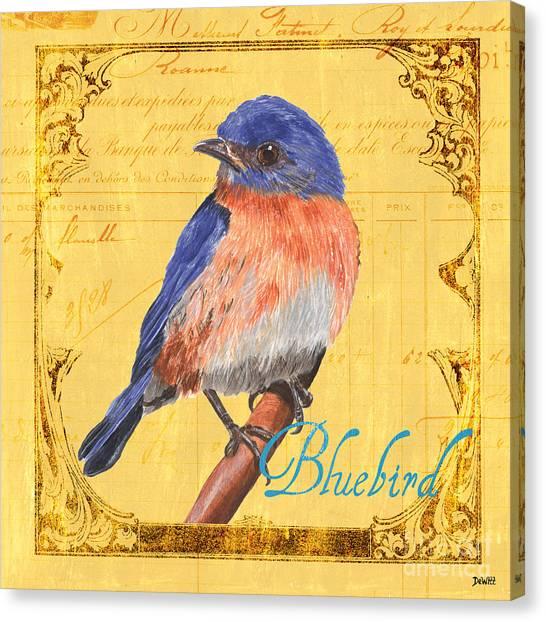 Songbirds Canvas Print - Colorful Songbirds 1 by Debbie DeWitt