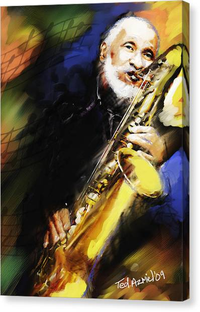 Sonny Rollins Groovin' The Sax Canvas Print