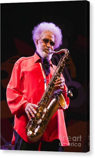 Sonny Rollins In Red Shirt Canvas Print