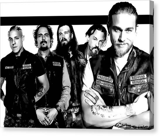Juice Canvas Print - Sons Of Anarchy by Anibal Diaz