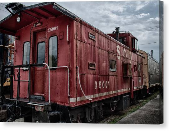 Train Conductor Canvas Print - Soo Caboos by Mike Burgquist