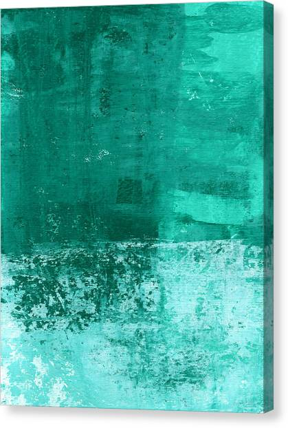 Abstract Designs Canvas Print - Soothing Sea - Abstract Painting by Linda Woods