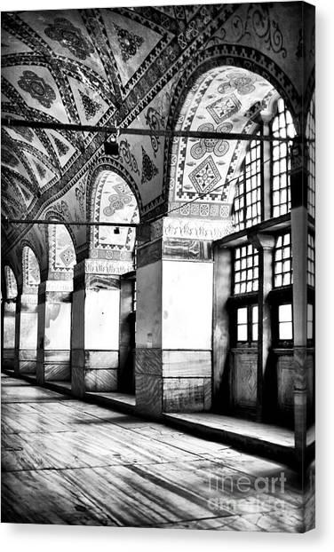 Byzantine Canvas Print - Sophia Columns by John Rizzuto