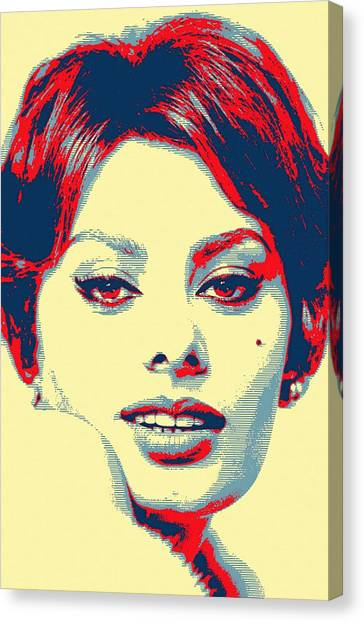 Sophia Loren Canvas Print by Art Cinema Gallery