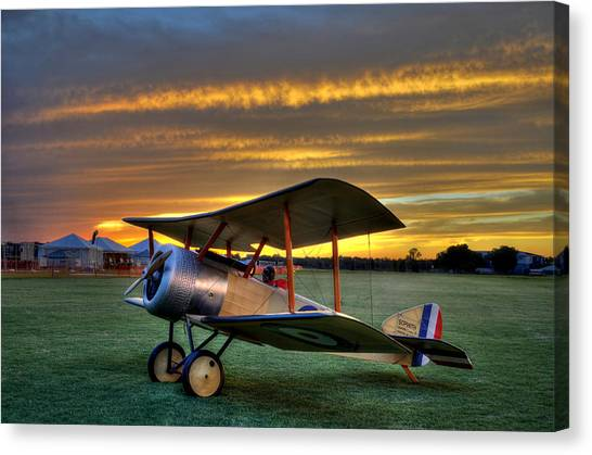 Sopwith Sunset Canvas Print
