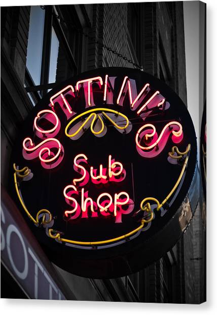Sottini's Sub Shop Canvas Print