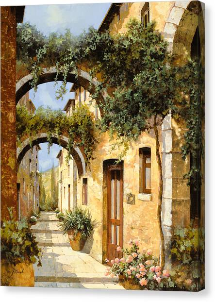 Villages Canvas Print - Sotto Gli Archi by Guido Borelli