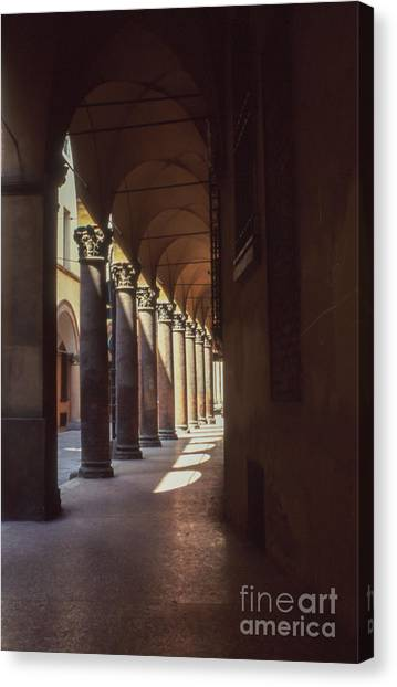 Sotto I Portici Canvas Print by Carol Weitz