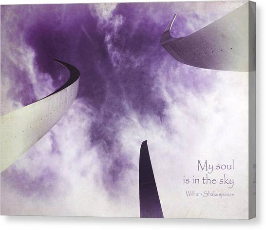 Soul In The Sky - Us Air Force Memorial Canvas Print