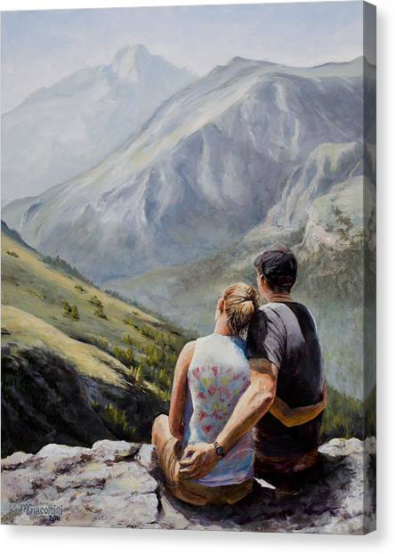 Colorado Rockies Canvas Print - Soul Mates by Mary Giacomini
