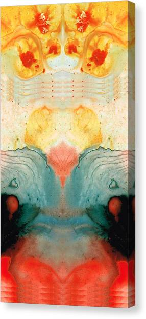 Om Canvas Print - Soul Star - Abstract Art By Sharon Cummings by Sharon Cummings