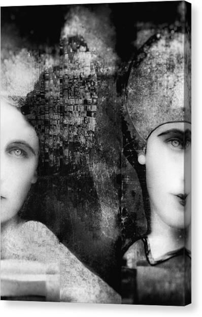 Sister Canvas Print - Soulmates by Nictsi Khamira