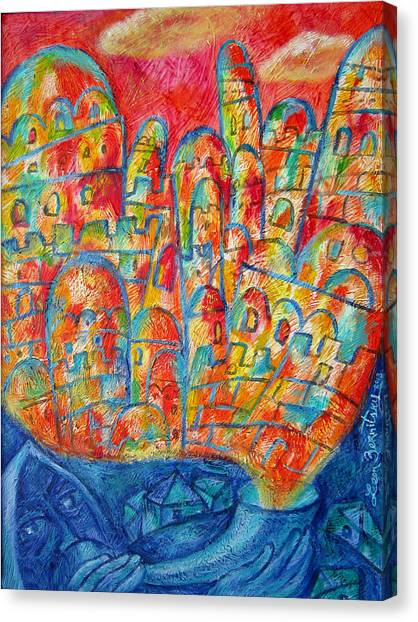 Judaism Canvas Print - Sound Of Shofar by Leon Zernitsky