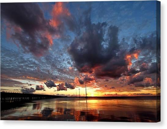 Sound Sunset Canvas Print by Stephanie Tomlinson