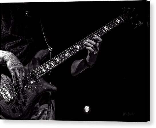 Bass Guitars Canvas Print - Sounds In The Night Bass Man by Bob Orsillo