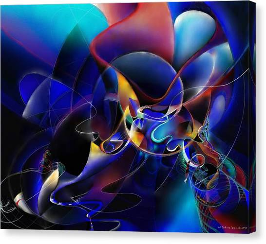Synthesizers Canvas Print - Soundshape One by Wolfgang Schweizer