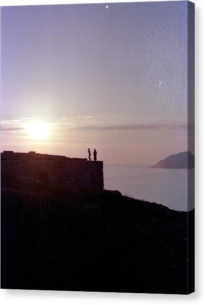 Sounion Greece Canvas Print by Mike McCool