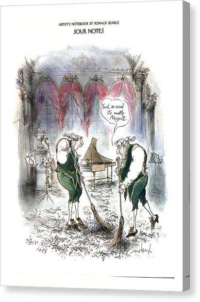 Attendant Canvas Print - Sour Notes 'yeah by Ronald Searle