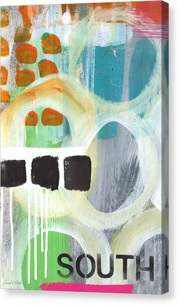 Expressionism Canvas Print - South- Abstract Expressionist Art by Linda Woods