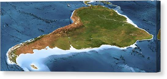 3d Map Of South America.South America 3d Artwork By Science Photo Library