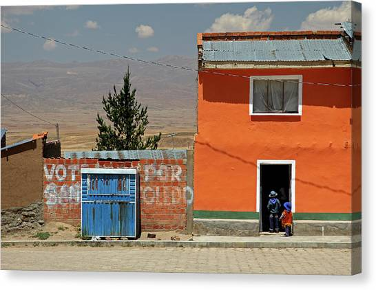 Bolivian Canvas Print - South America, Bolivia, Calamarca by Kymri Wilt