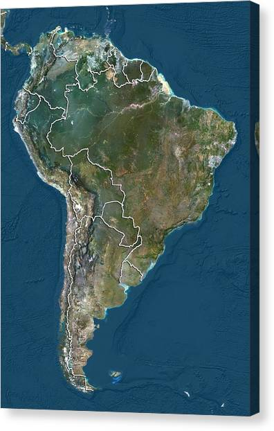 South America, Satellite Image Canvas Print by Science Photo Library