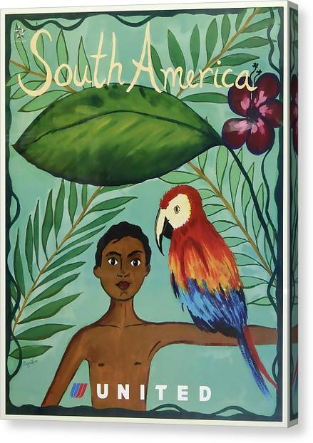South America United Airlines Canvas Print