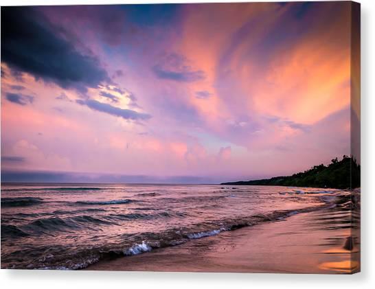 South Beach Clouds Canvas Print