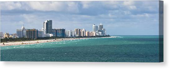 South Beach On A Summer Day Canvas Print