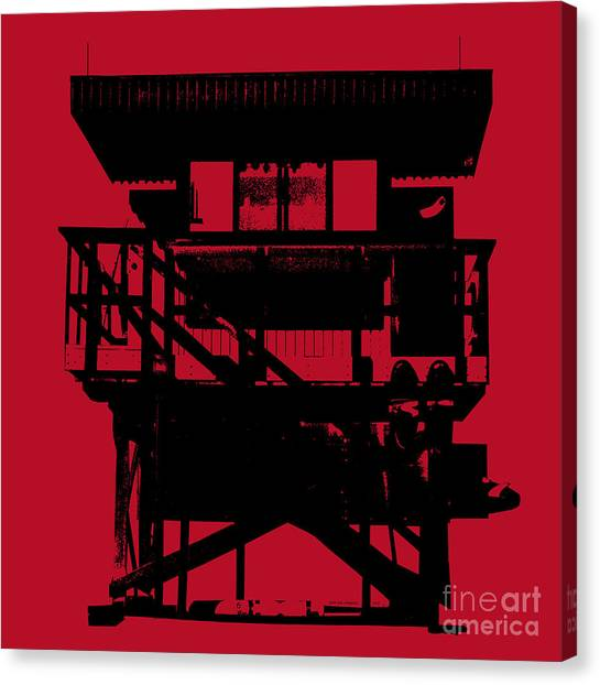 South Beach Lifeguard Stand Canvas Print