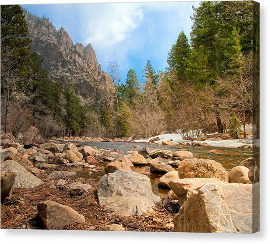 South Boulder Creek - Eldorado Canyon State Park Canvas Print