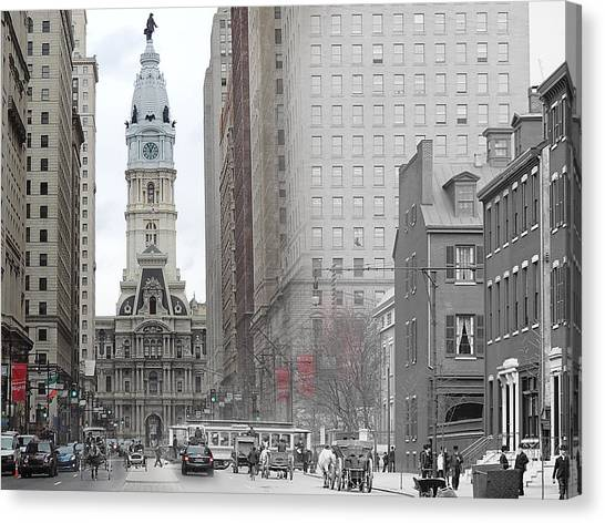 South Broad From Locust Street Canvas Print