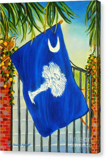 South Carolina - A State Of Art Canvas Print