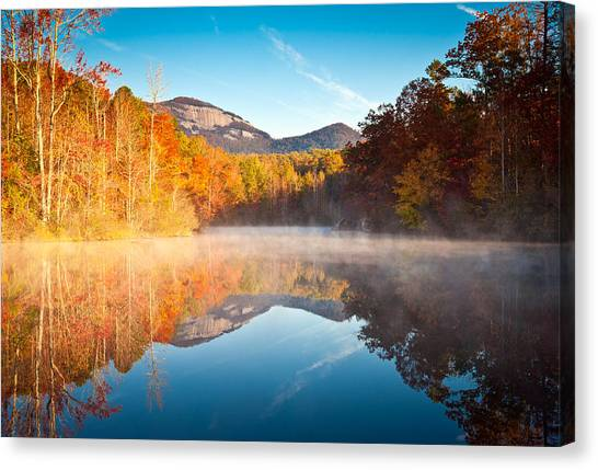 Table Mountain Canvas Print - South Carolina Table Rock State Park Autumn Sunrise - Balance by Dave Allen