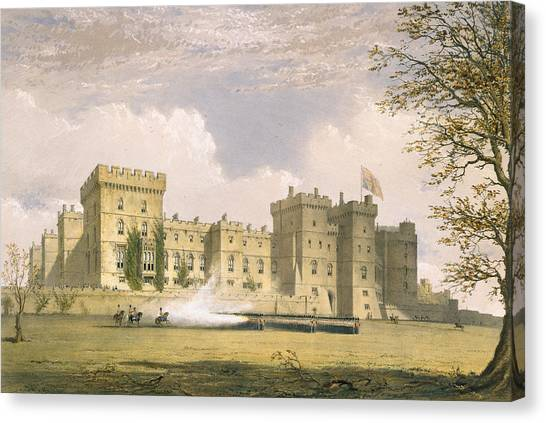 Royal Guard Canvas Print - South East View Of Windsor Castle by James Baker Pyne