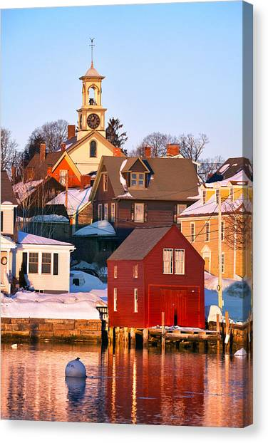 South End Boathouse Canvas Print