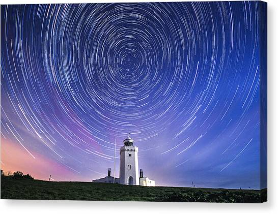 St Margaret Canvas Print - South Foreland Lighthouse.  by Ian Hufton