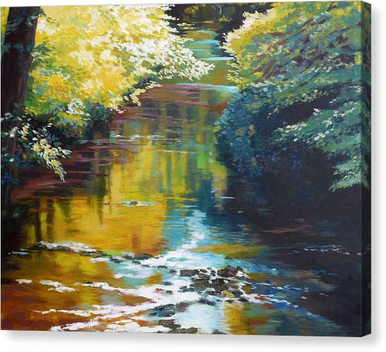 Silver Leaf Canvas Print - South Fork Silver Creek No. 3 by Melody Cleary
