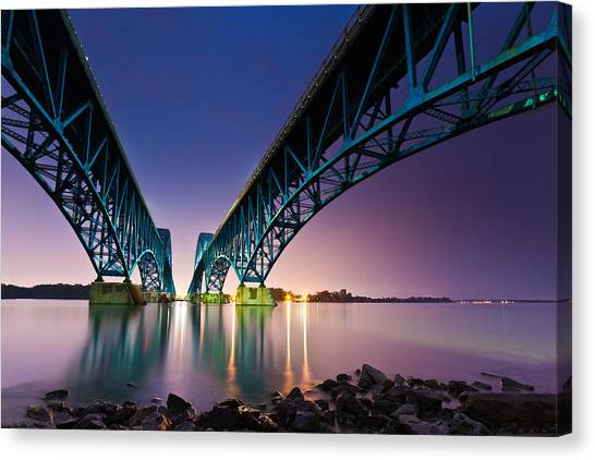 South Grand Island Bridge Canvas Print